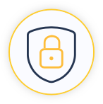 Shield and lock icon